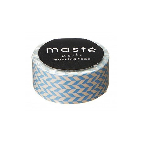 masking tape nostalgic bleu clair chevron washi tape  BLUE CHECKED