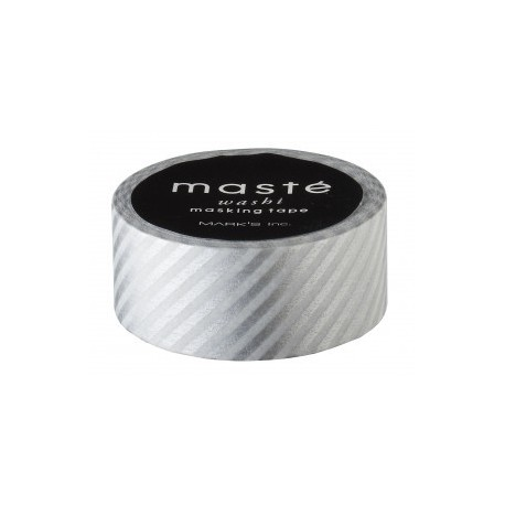 masking tape rayé argent washi tape silver stripe