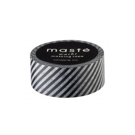 masking tape rayé noir washi tape black stripe