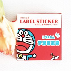 label Stickers blue cat