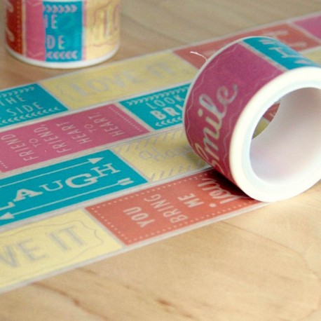 masking tape messages colors large