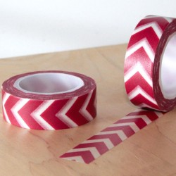 Masking tape gros chevron rouge washi tape red arrow