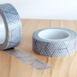 masking tape strip graphic grey