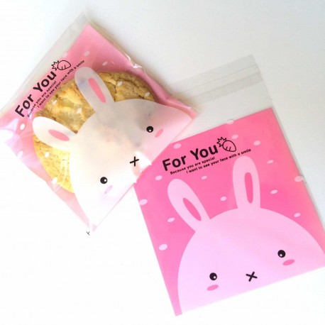 sachets alimentaire rose lapin