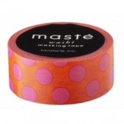masking tape Orange Polka Dots
