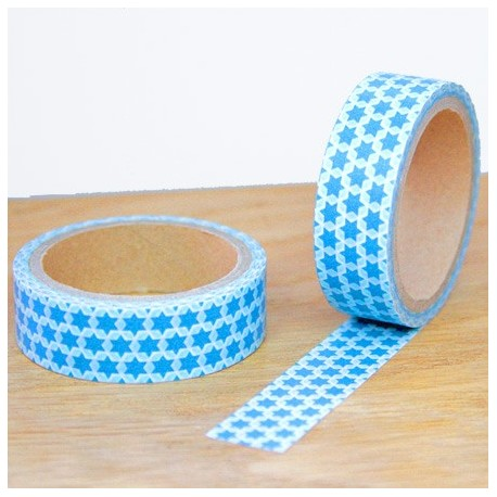 masking tape étoiles bleues washi tape david blue