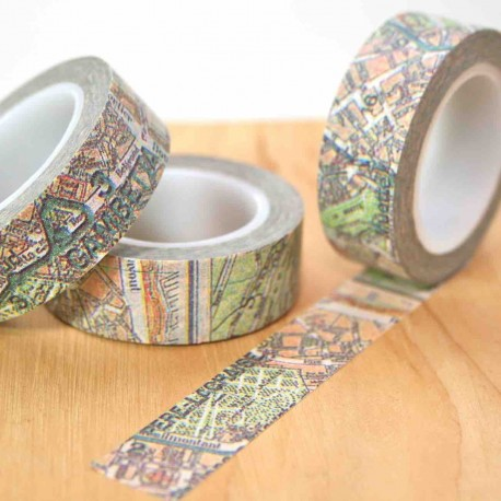 masking tape plan de paris washi tape city map