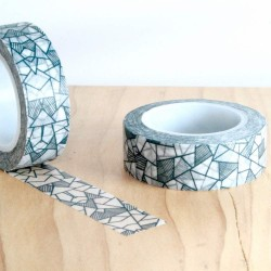 masking tape mosaïc gris washi tape strip grey