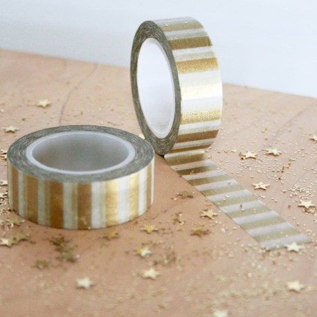Masking tape bande OR washi tape gold stipe