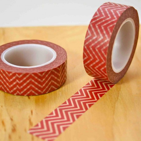 masking tape zig zag rouge washi tape red strip