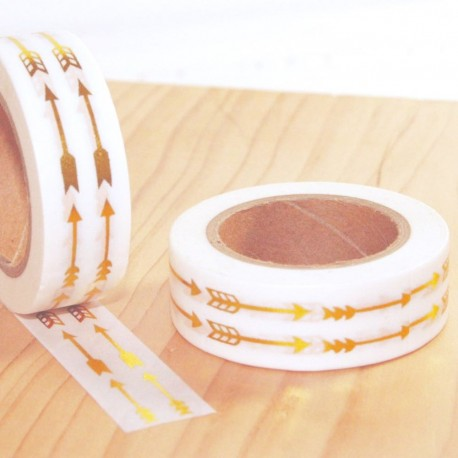 Masking tapes arrow gold washi tape flèches or