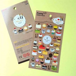 stickers patisseries doré autocollant gateaux gold kawaii