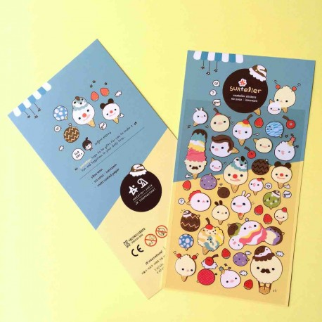 stickers glaces kawaii jolie autocollant ice cream