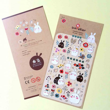 stickers lapins kawaii jolie autocollant rabbit