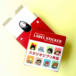 label Stickers dessins animés