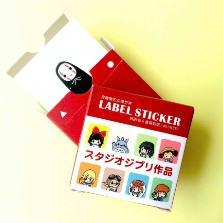 Lot de 40  label Stickers dessins animés autocollant  kawaii totoro