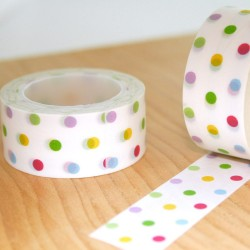 masking tape pois couleurs large