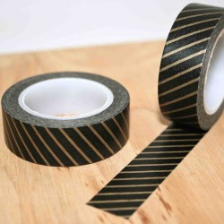 masking tape noir diagonal OR washi tape strip gold on black
