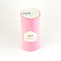 masking tape casa  stripe pink 10 cm washi tape large rayure rose déco
