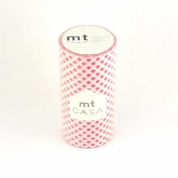 masking tape casa dot red 10 cm washi tape large rouge déco