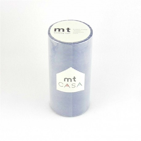 masking tape casa blue strip 10cm washi tape large rayures bleu marine