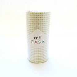 masking tape casa dots gold 10 cm