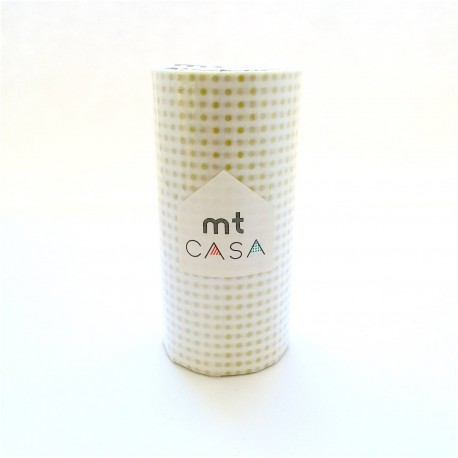 masking tape casa dots gold washi tape large petit pois or déco 10 cm