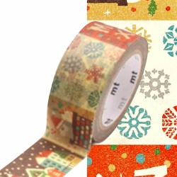 masking tape Patchwork Christmas print illustration washi tape noël