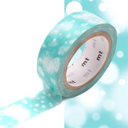 masking tape blue snow washi tape neige bleu noël