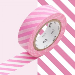 masking tape rayures obliques rose