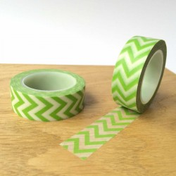 masking tapes chevrons washi tape green strip