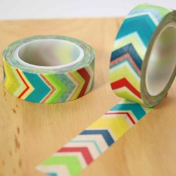 masking tape chevrons couleurs