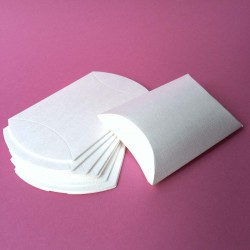 lot de 10 boîtes oreillers pillow box blanc
