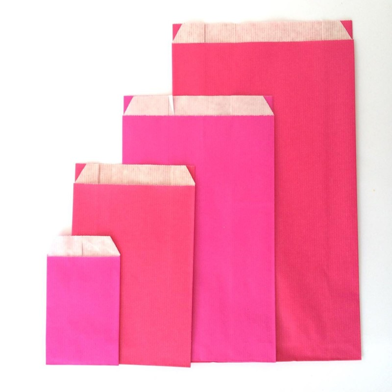 pochette papier kraft fuchsia 18 x 31 cm pink embalage. Black Bedroom Furniture Sets. Home Design Ideas