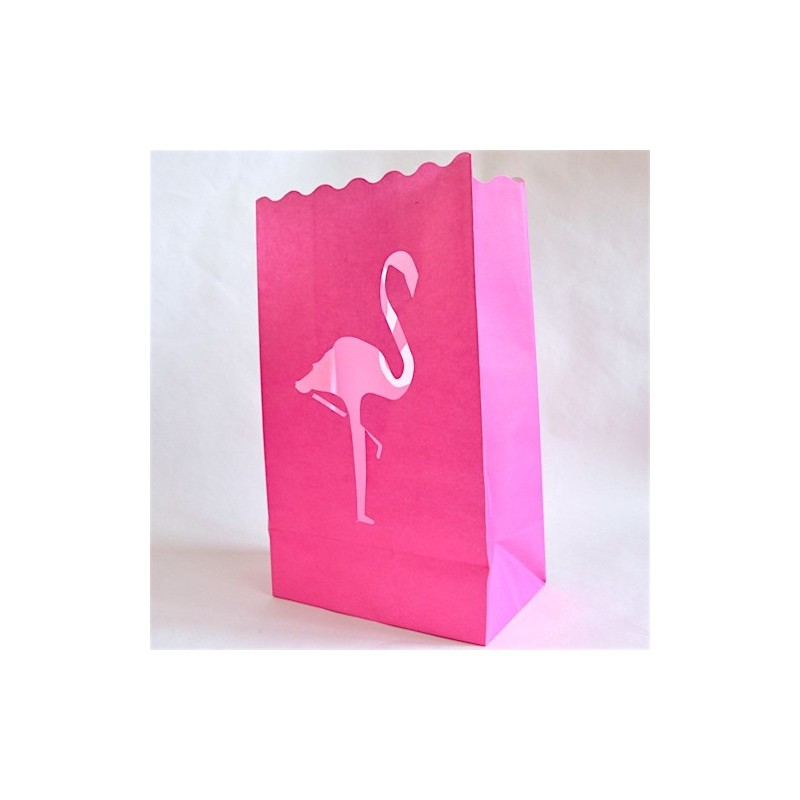 sac photophore flamant rose lanterne pink floyd d co papier fuchsia. Black Bedroom Furniture Sets. Home Design Ideas