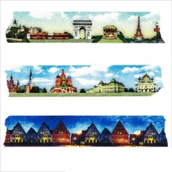 masking tape villes d'europe washi tape paris Russie pays scandinave