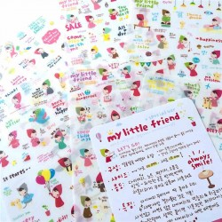 lot de 6 feuillets de stickers my little friend