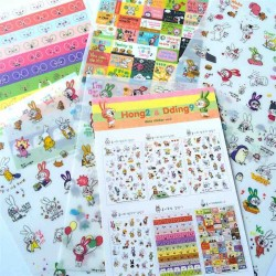 lot de 6 feuillets de stickers hong2 & dding9