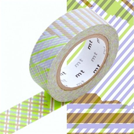 masking tape checked green washi tape rayer vert et mauve