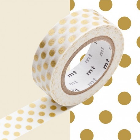 masking tapes à pois or washi tape gold dot pois points doré