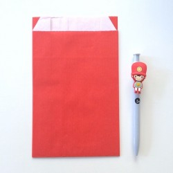 lot de 10 pochette kraft rouge12 / 20 cm emballage deco diy red