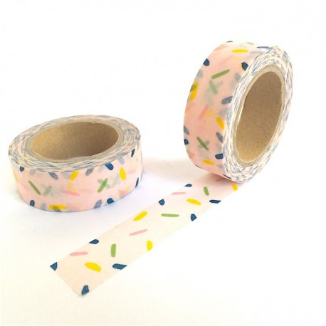 masking tape rose confétties washi tape pink