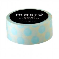 masking tape blanc pois bleu claire washi tape withe dot light blue