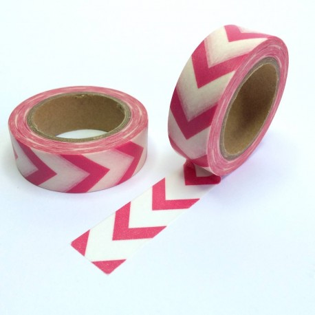 Masking tape gros chevron fuchsia washi tape pink arrow