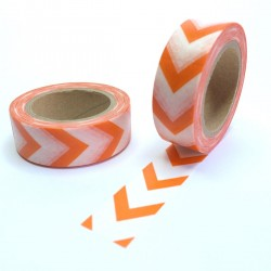 Masking tape gros chevron orange washi tape pumpkin arrow