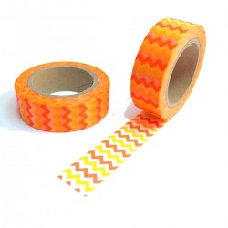 masking tape zizag fluo jaune & orange