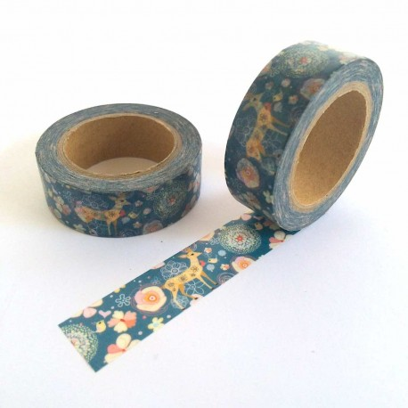 masking tape tapisserie biche washi tape hind tapestry