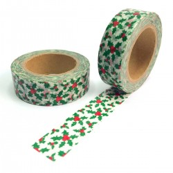 masking tape noël houx rouge vert kawaii washi tape xmas