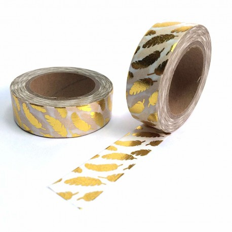 masking tape plumes or  washi tape gold plucks