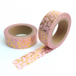 masking tape marbré or fond rose